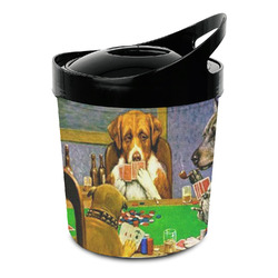Dogs Playing Poker 1903 C.M.Coolidge Plastic Ice Bucket