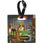 Dogs Playing Poker by C.M.Coolidge Luggage Tags