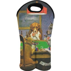 Dogs Playing Poker 1903 C.M.Coolidge Wine Tote Bag (2 Bottles)