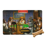 Dogs Playing Poker 1903 C.M.Coolidge Pet Bowl Mat