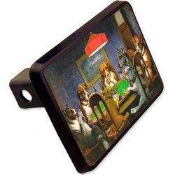 """Dogs Playing Poker 1903 C.M.Coolidge Rectangular Trailer Hitch Cover - 2"""""""