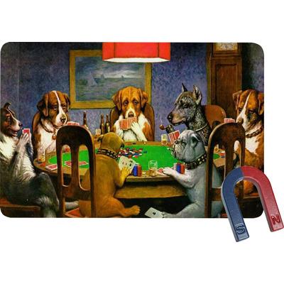 Dogs Playing Poker 1903 C.M.Coolidge Rectangular Fridge Magnet