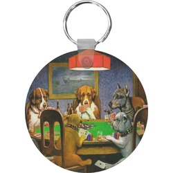Dogs Playing Poker by C.M.Coolidge Keychains - FRP