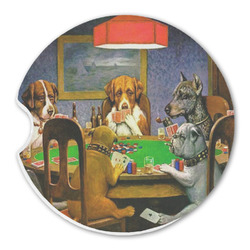 Dogs Playing Poker 1903 C.M.Coolidge Sandstone Car Coasters