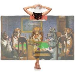 Dogs Playing Poker 1903 C.M.Coolidge Sheer Sarong