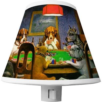 Dogs Playing Poker 1903 C.M.Coolidge Shade Night Light