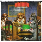 Dogs Playing Poker 1903 C.M.Coolidge Shower Curtain