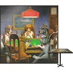 Dogs Playing Poker 1903 C.M.Coolidge Square Table Top