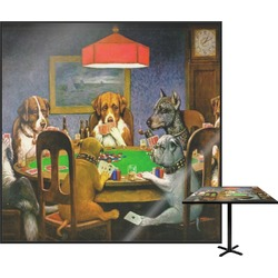 """Dogs Playing Poker 1903 C.M.Coolidge Square Table Top - 24"""""""