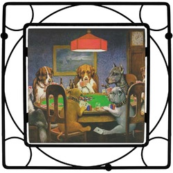 Dogs Playing Poker 1903 C.M.Coolidge Square Trivet