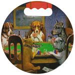 Dogs Playing Poker 1903 C.M.Coolidge Stadium Cushion (Round)