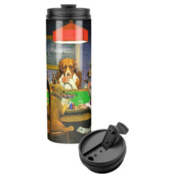 Dogs Playing Poker 1903 C.M.Coolidge Stainless Steel Tumbler