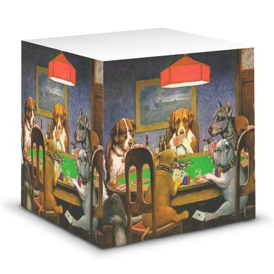 Dogs Playing Poker 1903 C.M.Coolidge Sticky Note Cube