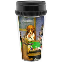 Dogs Playing Poker by C.M.Coolidge Travel Mugs