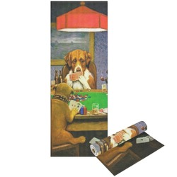 Dogs Playing Poker 1903 C.M.Coolidge Yoga Mat - Printable Front and Back
