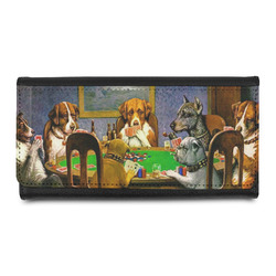 Dogs Playing Poker by C.M.Coolidge Leatherette Ladies Wallet