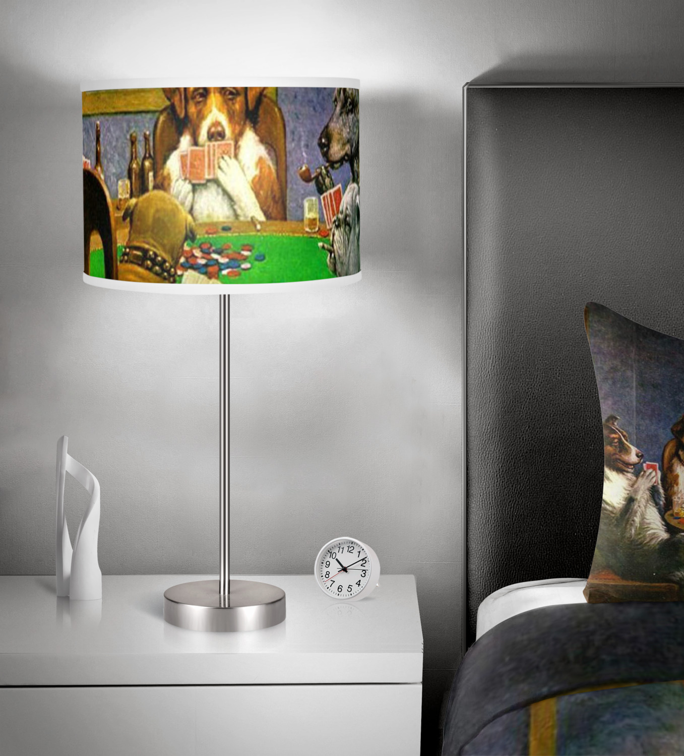 Dogs playing poker 1903 cmolidge duvet cover set youcustomizeit dogs playing poker by cmolidge 13 inch drum lamp shade in room aloadofball Gallery
