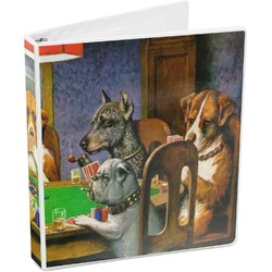 Dogs Playing Poker by C.M.Coolidge 3-Ring Binder