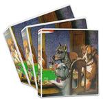 Dogs Playing Poker by C.M.Coolidge 3-Ring Binder