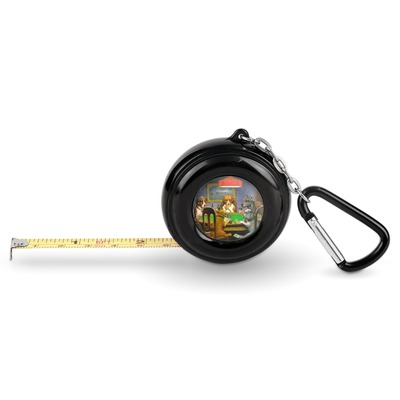 Dogs Playing Poker by C.M.Coolidge Pocket Tape Measure - 6 Ft w/ Carabiner Clip