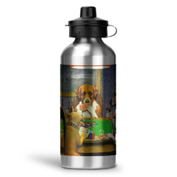 Dogs Playing Poker by C.M.Coolidge Water Bottle - Aluminum - 20 oz