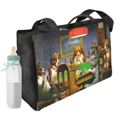 Dogs Playing Poker by C.M.Coolidge Diaper Bag