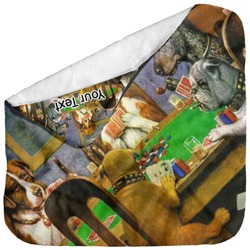 Dogs Playing Poker by C.M.Coolidge Baby Hooded Towel
