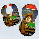 Dogs Playing Poker by C.M.Coolidge Baby Bib & Burp Set
