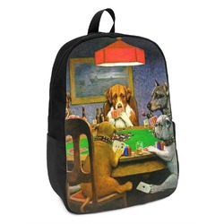 Dogs Playing Poker by C.M.Coolidge Kids Backpack