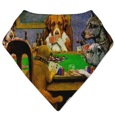 Dogs Playing Poker by C.M.Coolidge Bandana Bib