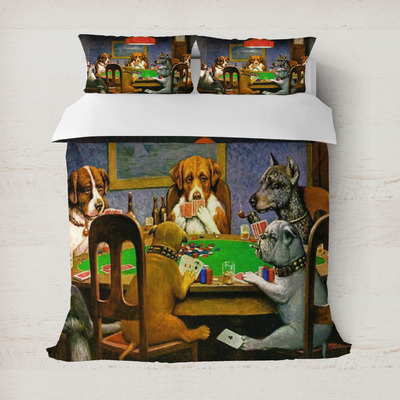 Dogs Playing Poker by C.M.Coolidge Duvet Cover
