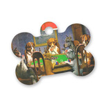 Dogs Playing Poker by C.M.Coolidge Bone Shaped Dog Tag