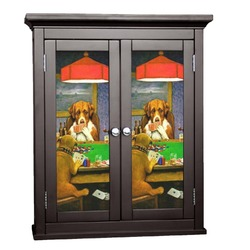 Dogs Playing Poker by C.M.Coolidge Cabinet Decal - Custom Size