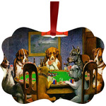 Dogs Playing Poker by C.M.Coolidge Ornament