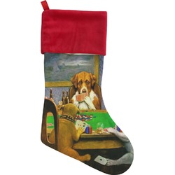 Dogs Playing Poker by C.M.Coolidge Christmas Stocking