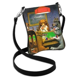 Dogs Playing Poker by C.M.Coolidge Cross Body Bag - 2 Sizes