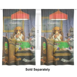 """Dogs Playing Poker by C.M.Coolidge Curtains - 40""""x54"""" Panels - Unlined (2 Panels Per Set)"""