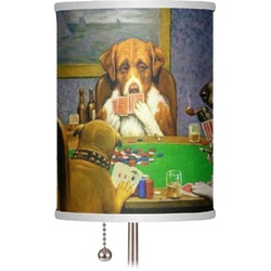 "Dogs Playing Poker by C.M.Coolidge 7"" Drum Lamp Shade"