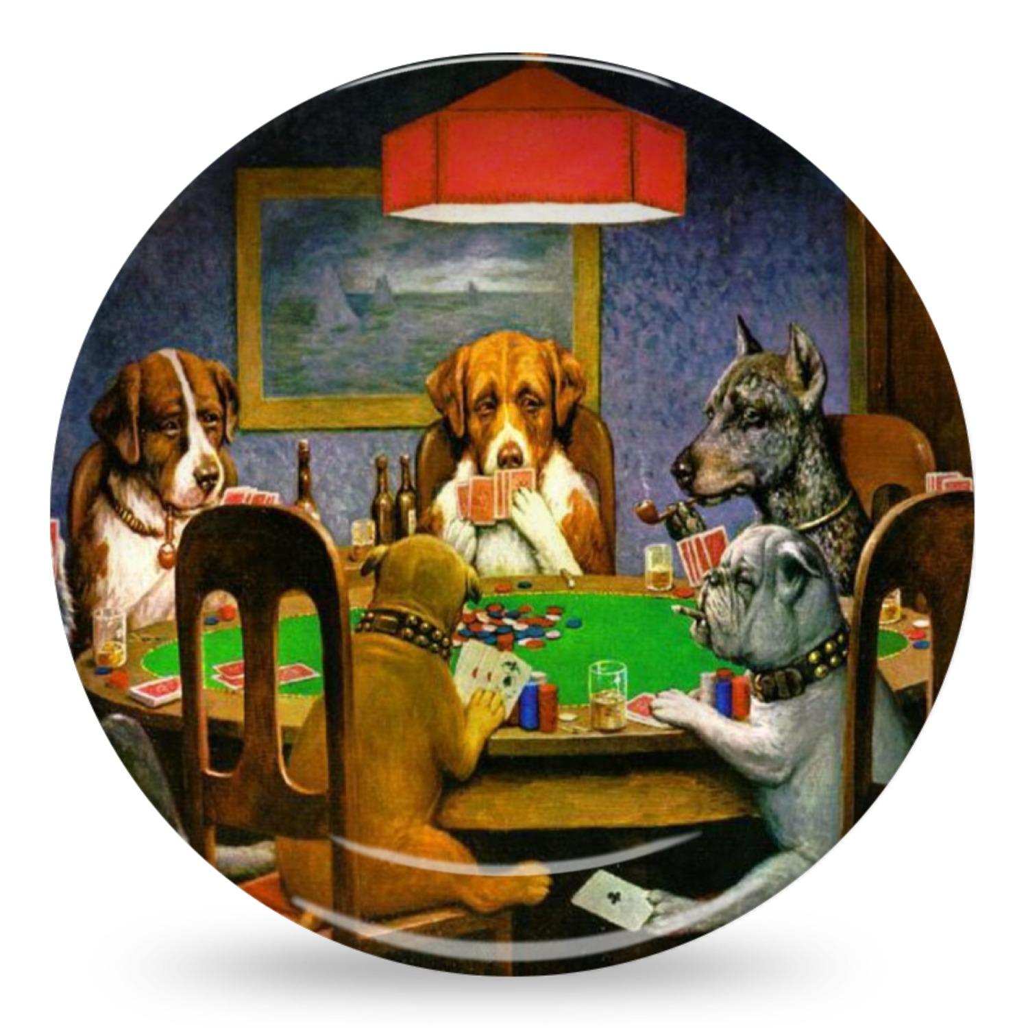 Dogs Playing Poker by C.M.Coolidge Microwave Safe Plastic Plate - Composite Polymer  sc 1 st  YouCustomizeIt & Dogs Playing Poker by C.M.Coolidge Microwave Safe Plastic Plate ...