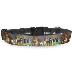 """Dogs Playing Poker by C.M.Coolidge Deluxe Dog Collar - Large (13"""" to 21"""")"""