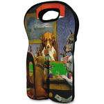 Dogs Playing Poker 1903 C.M.Coolidge Wine Tote Bag (2 Bottles)