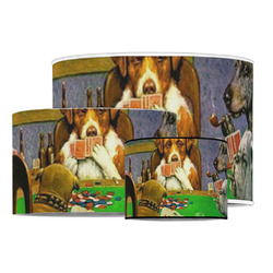 Dogs Playing Poker by C.M.Coolidge Drum Lamp Shade