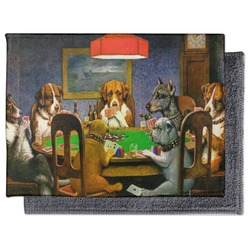 Dogs Playing Poker by C.M.Coolidge Microfiber Screen Cleaner