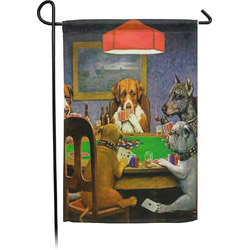 Dogs Playing Poker by C.M.Coolidge Garden Flag - Single or Double Sided