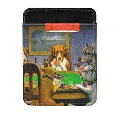 Dogs Playing Poker by C.M.Coolidge Genuine Leather Money Clip