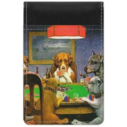 Dogs Playing Poker by C.M.Coolidge Genuine Leather Small Memo Pad