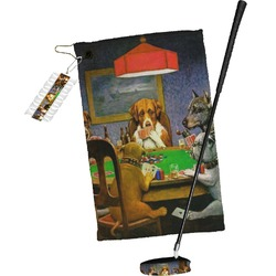 Dogs Playing Poker 1903 C.M.Coolidge Golf Towel Gift Set