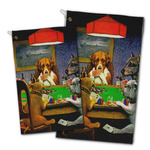 Dogs Playing Poker by C.M.Coolidge Golf Towel - Full Print