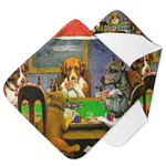 Dogs Playing Poker by C.M.Coolidge Hooded Baby Towel