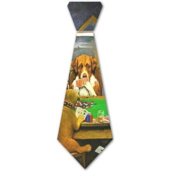 Dogs Playing Poker by C.M.Coolidge Iron On Tie